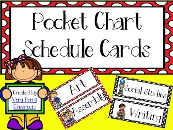 Polka Dot Pocket Chart Schedule Cards