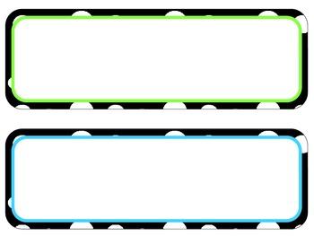 Polka Dot Poster Header and Corresponding Cards -Editable