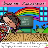 Back to School Posters Signs Rules Center Stations Polka Dot Management Packet