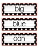 Polka Dot Pre-Primer SIGHT WORD Cards FREEBIE!