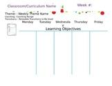 Polka Dot Preschool Lesson Plan Template