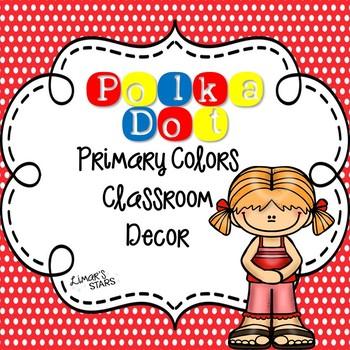 Polka Dot Primary Colors Decor