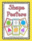 2D & 3D Polka Dot Shape Posters (Primary Colors)
