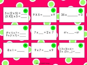 Polka Dot Properties Multiplication Find, Sort, and Solve