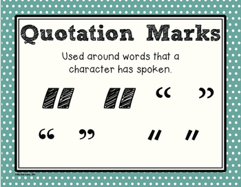 Polka Dot Punctuation Posters