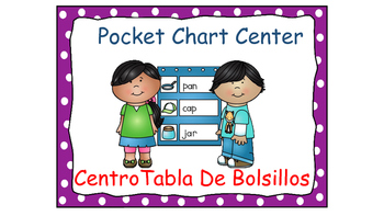 Polka Dot (Purple) Bilingual Learning Centers Signs