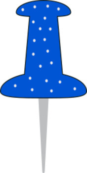 Polka Dot Push Pin Clip Art - 17 total - 300 dpi