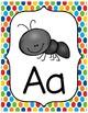 Polka Dot Rainbow Alphabet Posters