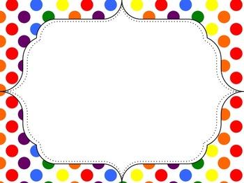 polka dot rainbow dot frames freebie by mercedes hutchens Cute Owl Graphic Owl Birthday Clip Art