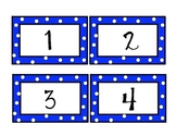 Polka Dot Rainbow Number Cards