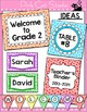 Classroom Labels - Polka Dot Rainbow Theme