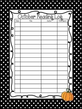 Polka Dot Reading Log