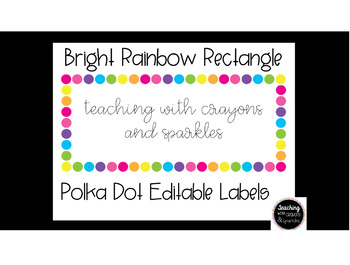 Polka Dot Rectangle Labels (EDITABLE)