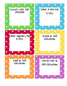 Polka Dot Rewards Sign up Sheets