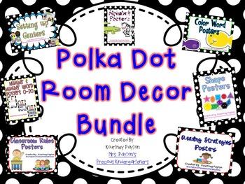 Polka Dot Room Decor Bundle