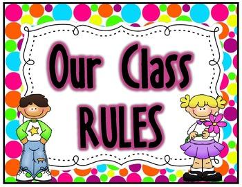 Polka Dots {Rules Posters}