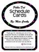 Polka Dot Schedule (Agenda) Cards Set