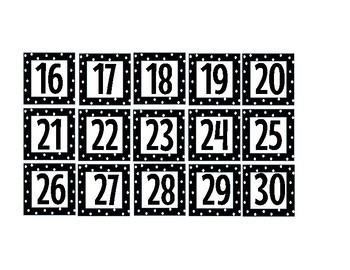 Polka Dot Schedule / Calendar