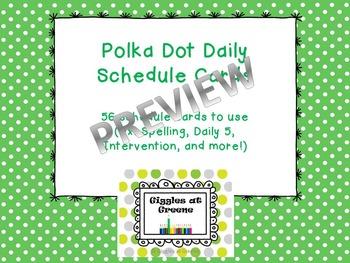 Polka Dot Schedule Cards