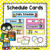 Polka Dot Schedule Cards-Classroom Decor