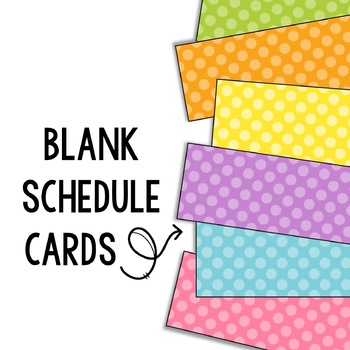 Polka Dot Schedule Cards