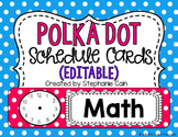 Polka Dot Schedule Cards (Editable)