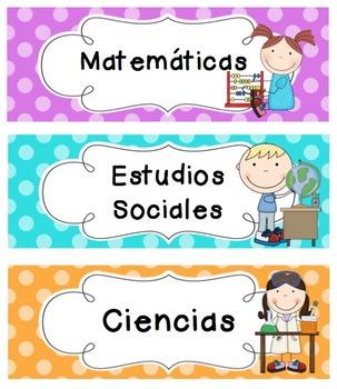 Polka Dot Schedule Cards (SPANISH)