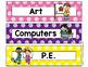 Polka Dot Schedule Cards (Scribble Dots)-Classroom Decor