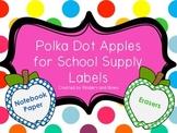 Polka Dot School Supply Apples