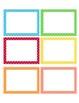 Polka Dot School Supply Labels