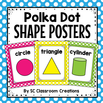 Polka Dot Shape Posters-Classroom Decor