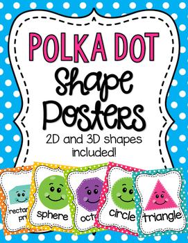 Polka Dot Shape Posters