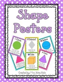 2D & 3D Polka Dot Shape Posters (Bright Colors)