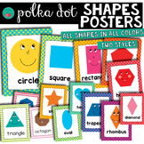 Polka Dot Shape Posters 2D and 3D