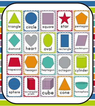 Polka Dot Shape Posters: Includes 2D & 3D Shapes!