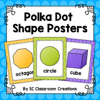 Polka Dot Shape Posters (Rainbow Big Dots)-Classroom Decor