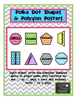 Polka Dot Shapes & Polygons