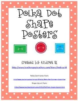 Polka Dot Happy Shapes Posters