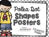 Polka Dot Shapes Posters