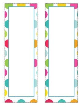 Polka Dot Shapes and Frames.  Cute and Colorful! Classroom organization!