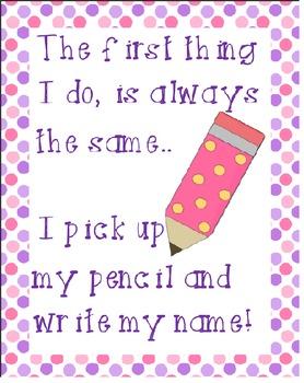 Polka Dot Sign for writing name