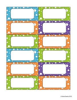 Polka Dot Signs and Labels