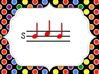 Polka Dot Solfege PDF: So Mi La Cards and Activities