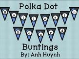 Polka Dot - Solid Color Bulletin Board Bunting