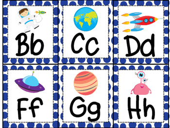 Polka Dot Space Word Wall Labels