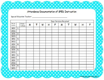 Polka Dot Special Education Documentation