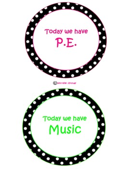 Polka Dot Specials Signs