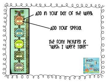 Polka Dot Specials Signs (all colors)