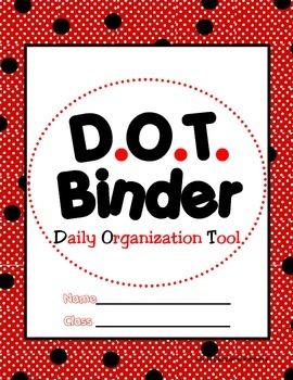 Polka Dot {Spot} Binder Cover