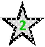 Polka Dot Star Number Signs- Multiple uses!!!